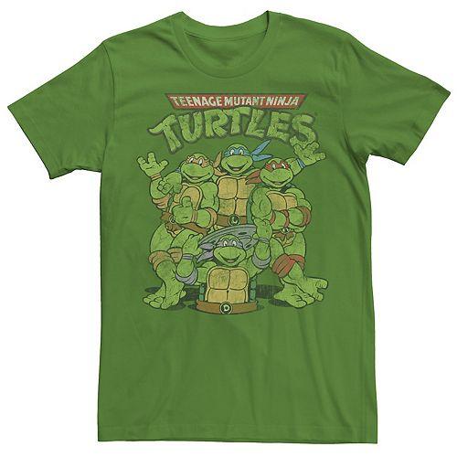 Men's Ninja Turtles Retro Group Shot Short Sleeve Tee