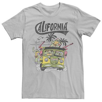 Men's Ninja Turtles California Bus Color Pop Short Sleeve Tee