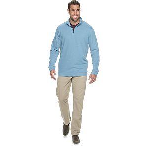 Big & Tall Croft & Barrow® Extra Soft Flatback Ribbed Quarter-Zip Sweater