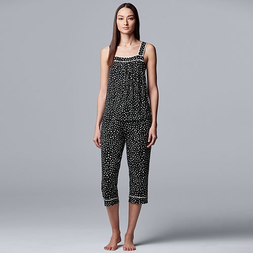 Women's Simply Vera Vera Wang Tank and Capri Pajama Set