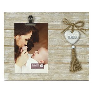 """New View Gifts & Accessories """"Grateful"""" Dangle Heart Frame"""