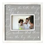 "New View Gifts & Accessories ""Enjoy the Little Things"" Wide Wood Frame"
