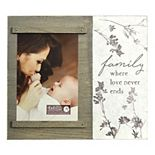 "New View Gifts & Accessories ""Family Where Love Never Ends"" Slide Photo Frame"