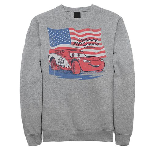 Juniors' Cars Lightning McQueen American Flag Fleece