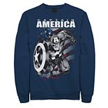 Juniors Marvel Captain America Black And White Portrait Fleece