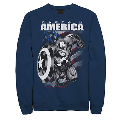 Juniors Marvel Captain America Black And White Portrait Fleece
