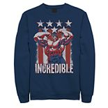 Juniors' Marvel Hulk American Flag Portrait Fleece