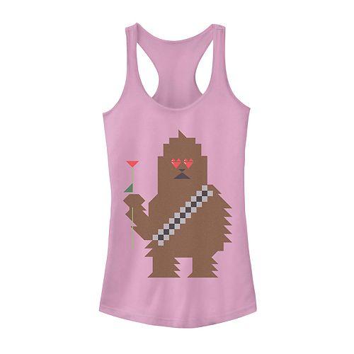 Juniors' Star Wars Chewbacca 8-Bit Valentine's Day Tank