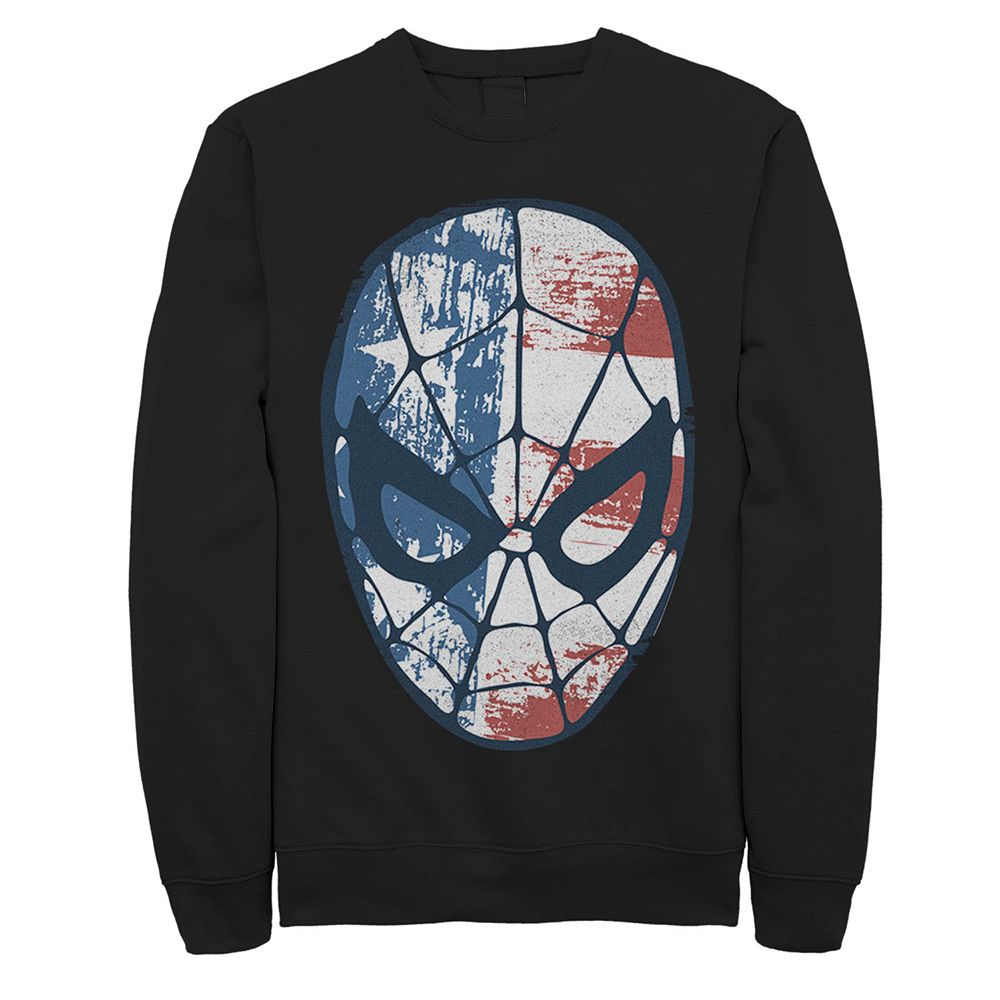 Juniors' Marvel Spider-Man American Flag Fill Mask Fleece