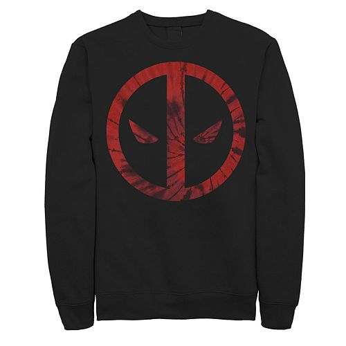 Juniors' Marvel Deadpool Tie Dye Logo Fleece