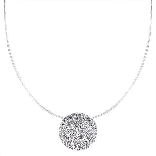 Dana Buchman Simulated Crystal Disc Pendant Necklace