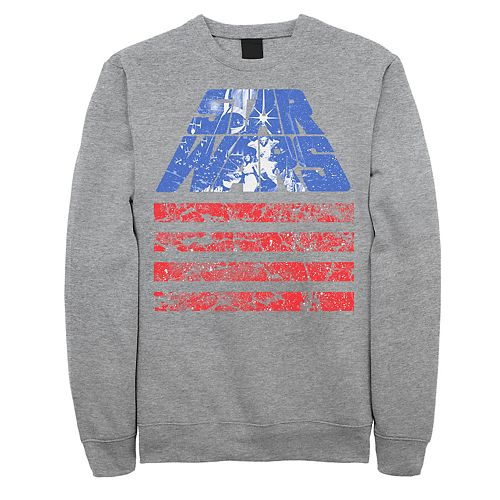 Juniors' Star Wars Red White And Blue American Flag Poster Fleece