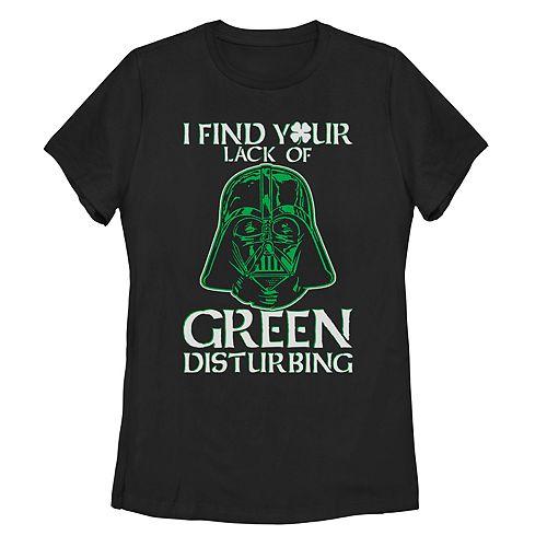 "Juniors' Star Wars Darth Vader ""Lack Of Green"" Saint Patrick's Day Tee"