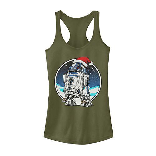 Juniors' Star Wars R2-D2 Santa Hat Christmas Tank