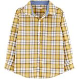Boys 4-14 Carter's Plaid Button-Front Shirt