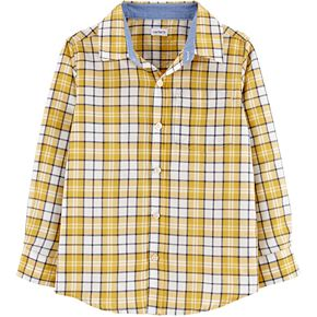 Boys 4-14 Carter's Plaid Button-Front Shirt