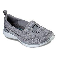 Womens Grey Skechers Memory Foam Athletic Shoes & Sneakers