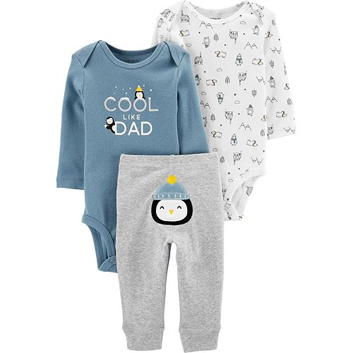 Baby Neutral Carter's 3-Piece Penguin Little Character Set