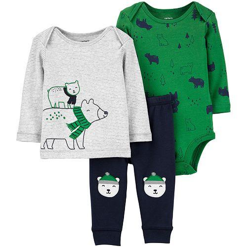 Baby Boy Carter's 3-Piece Polar Bear Little Character Set