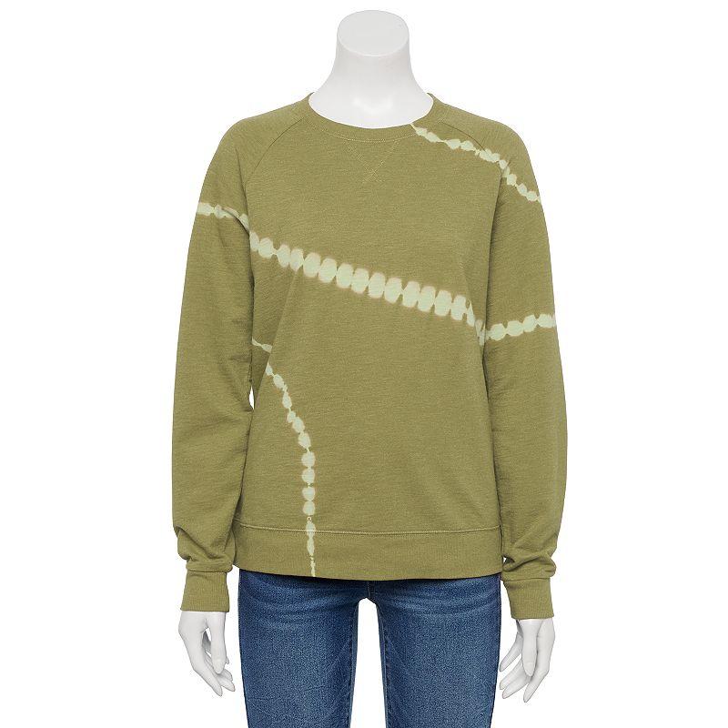Women's Sonoma Goods For Life Everyday Sweatshirt. Size: XS. Green