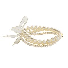 Simulated Pearl Stretch Bracelet Set
