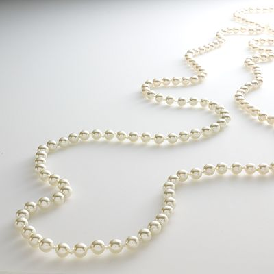Croft and Barrow Gold Tone Simulated Pearl Long Necklace