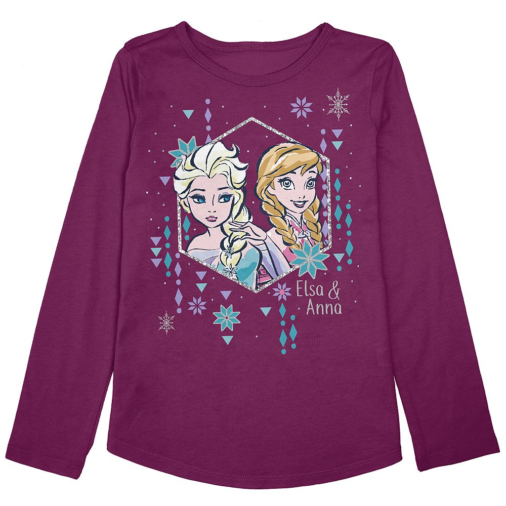 """Disney's Frozen Elsa & Anna Toddler Girl """"Sister Love"""" Graphic Tee by Jumping Beans®"""
