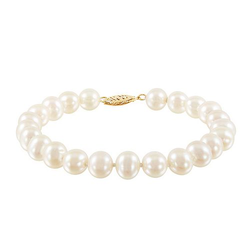 Freshwater by HONORA Sterling Silver Freshwater Cultured Pearl Bracelet
