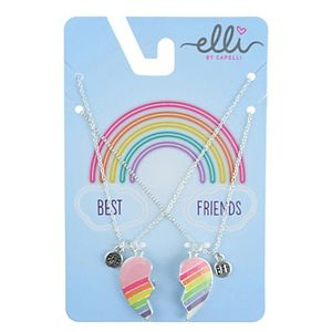 Girls Elli by Capelli BFF Rainbow Heart Necklace Set