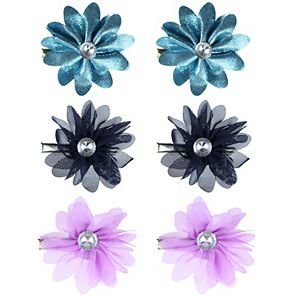 Girls Elli by Capelli 6 Flower Clips