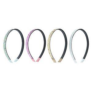 Girls Elli by Capelli 4pc Crunchy Glitter Headbands