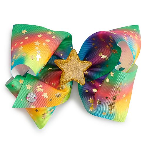 Girls 4-16 JoJo Siwa Rainbow Gold Star Hair Bow