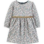 Baby Girl Carter's Floral Fleece Holiday Dress
