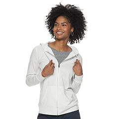 G-III Womens All Division Tunic Hoodie White//Green Large