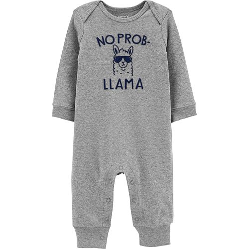 "Baby Boy Carter's ""No Prob Llama"" Graphic Jumpsuit"