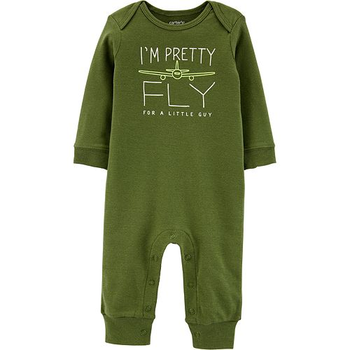 """Baby Boy Carter's """"Pretty Fly For A Little Guy"""" Graphic Jumpsuit"""
