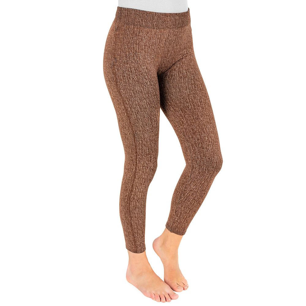 Women's MUK LUKS® Fleece-Lined Faux Denim Leggings