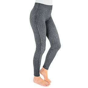Women's MUK LUKS® Fleece-Lined Faux Denim Leggings