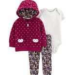 Baby Girl Carter's 3-Piece Owl Little Jacket Set