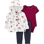 Baby Girl Carter's 3-Piece Quilted Little Cardigan Set