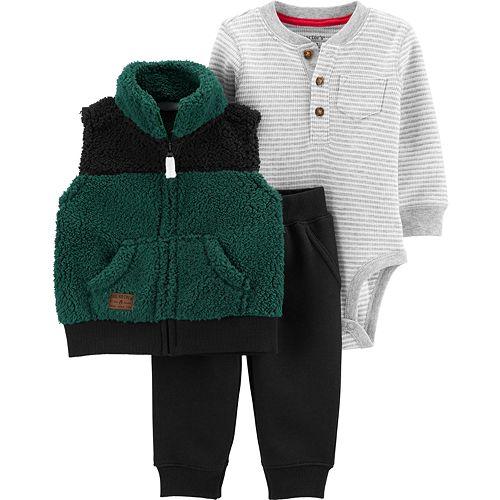 Baby Boy Carter's 3-Piece Little Vest Set