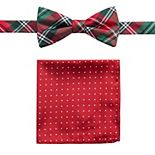 Men's St. Nicholas Square® Holiday Stanford Pre-Tied Bow Tie & Pocket Square Set