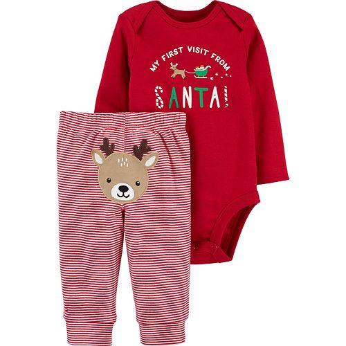 Baby Carter's 2-Piece Christmas Bodysuit Pant Set