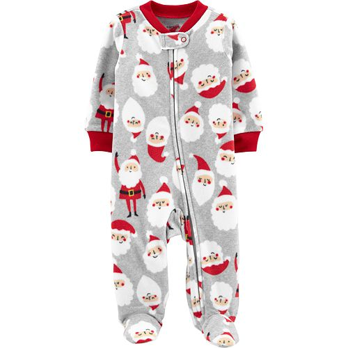 Baby Boy Carter's Santa Zip-Up Fleece Sleep & Play