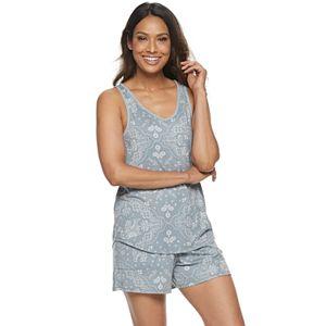 Women's Croft & Barrow® Lush Luxe Tank & Shorts Pajama Set