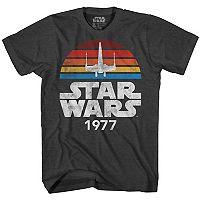 Star Wars Mens Vintage Logo Tee Deals
