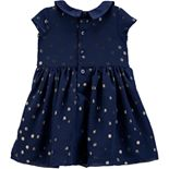 Baby Girl Carter's Glitter Dot Collared Dress