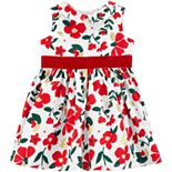 Baby Girl Carter's Floral Sateen Holiday Dress
