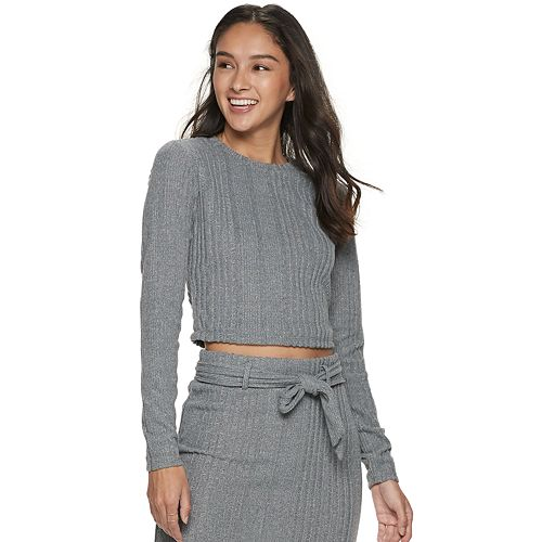 Juniors' Lily Rose Brushed Top