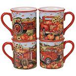 Certified International Harvest Bounty 4-pc. Mug Set